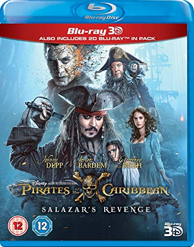 Pirates of the Caribbean: Salazar's Revenge (3D + 2D) [Blu-ray] [2017] [Region Free]