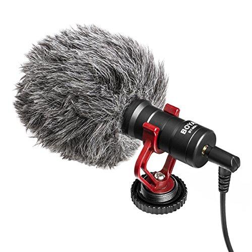 BOYA BY-MM1 omnidirezionale Microfono 3.5mm cravatta per DSLR fotocamera/smartphone/Camcorder/Canon/Nikon/Sony DSLR/videocamera/iPhone