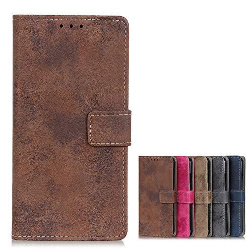 Brieftasche Schutzhülle für Xiaomi Mi 10T Lite 5G Hülle mit Kartenfach Etui Standfunktion & Magnetisch Handyhülle Leder Flip Lederhülle für Xiaomi Mi 10T Lite 5G (Brown)