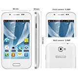 Unlocked Quadband Dual Sim Android 4.0 Os A7100 Smart Phone SC6820 1.0GHz with WiFi FM 4.0 Inch Capacitive Screen (White)