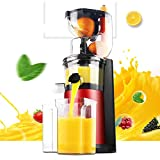 QWESHTU Centrifuga Frutta e Verdura Estrattore di Succo Freddo Imbocco Largo per Frutta/Verdura Intera Design Salvaspazio