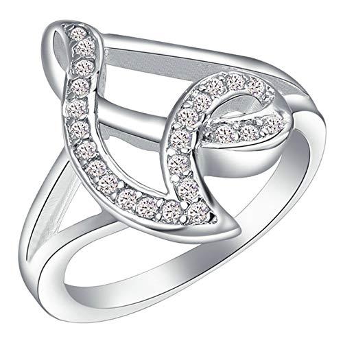 KnSam Eheringe Silber Partnerringe Frauen Kupfer Versilber Linien Silber Ring Valentinstag Gedenkenstag Geschenk