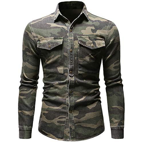 NF Camicia di Jeans Mimetica Verde Militare Manica Lunga da Uomo Camicie da Escursionismo All'aperto Top Accessori per La Caccia Abbigliamento Gilet da Tiro Tattico Abbigliamento da Campeggio