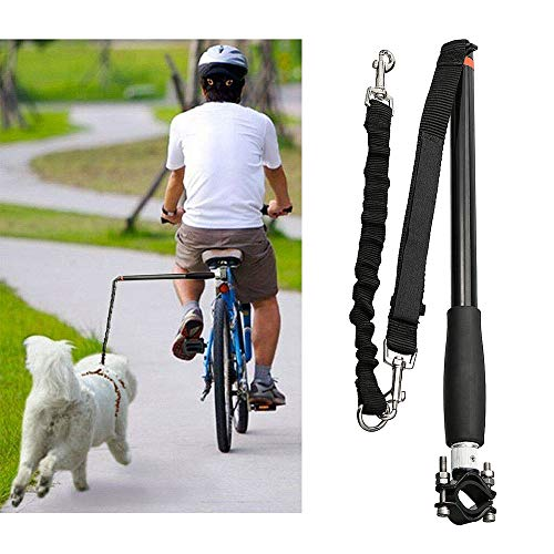 Decdeal Pet Dog Bike Leash for Safe HandsFree Bicycle Rides Dog Bicycle Exercise Leash Dog Running Leash for Small to Large Dogs