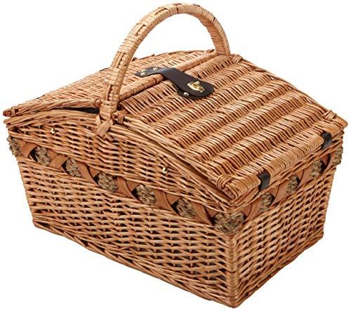 Cilio Verbania picknickmand, hout, bruin, 53x36x48 cm