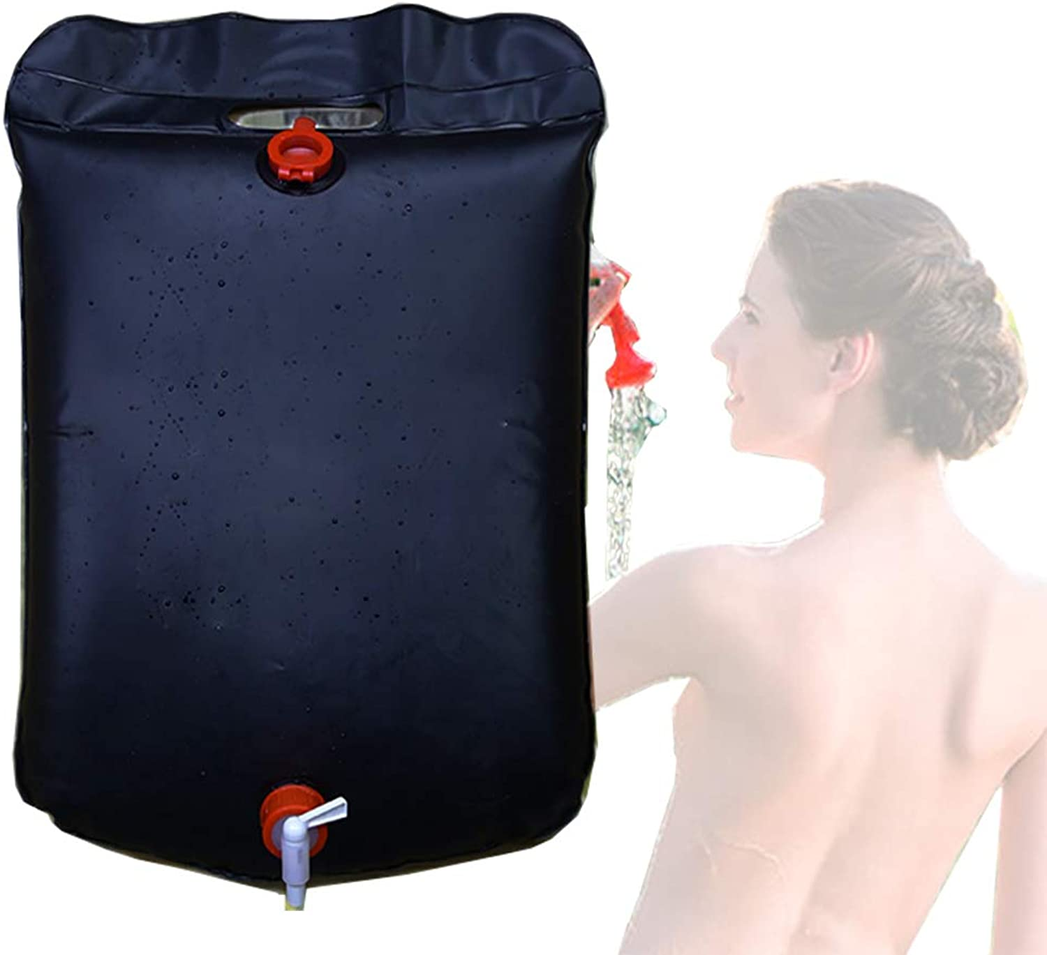 Solar Shower Bag,Solar Heating Premium Camping Shower Bag Hot Water Portable for Showering at The Campsite Or Washing Off Dirty Hands and Feet