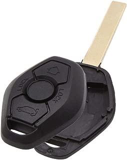 uxcell New 3 Buttons Uncut Insert Key Fob Case Remote Control Shell Replacement for BMW 1 3 5 6 7 Series E38 E39 E46 E60 E61 E81 E83 E85 X3 X5 Z3 Z4