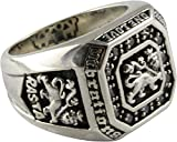 Löwen Ring Rasta Löwe Lion Zirkonia Silberring 925 Silber Herrenring (71 (22.6))