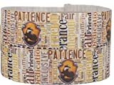 Harry Potter Hufflepuff House 1' Wide Repeat Ribbon Sold in Yard Lots (3 Yards)