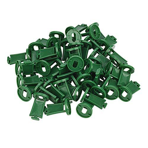 Clip in plastica per serra, clip di fissaggio per ombreggiatura, rondelle per isolamento serra in alluminio, kit di fissaggio per fissaggio ombreggiatura (50 estensori a T verde)