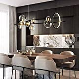 MAOS Lampadario LED Nordic Black Glass Bubble Paralume Gastronomia Sala Panno Conservare Appeso Lampadario Illuminazione Lampadina G9 (Color : 120x30cm)