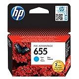 HP Original–HP–Hewlett Packard Deskjet Ink Advantage 3515(655/CZ 110AE)–Cabezal de impresión cian–600páginas
