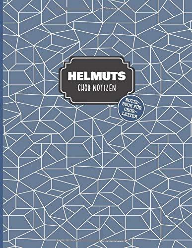 Helmuts Chor Notizen: Notizbuch für Chorleiter mit Punktraster und Notensystemen, ca. A4, 100 Seiten