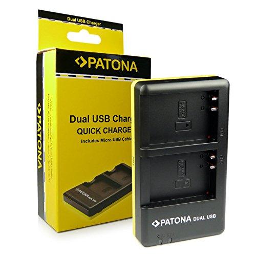 PATONA Dual Schnell-Ladegerät für BLN-1 Akkus kompatibel mit Olympus OMD EM5 Mark II Stylus XZ-2 Pen E-P5 E-M1