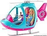 Barbie l'Elicottero per Bambole, Rosa e Azzurro con Elica Che Gira, Giocattolo per Bambini 3 + Anni, FWY29
