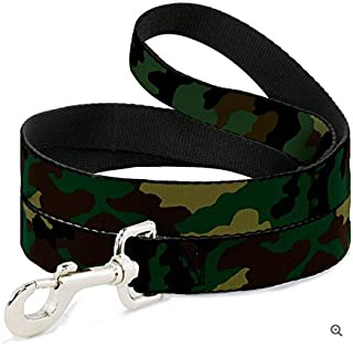 Buckle-Down Seatbelt Buckle Dog Collar - Camo Olive