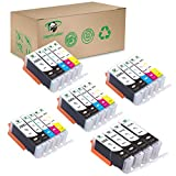 Supricolor PGI-250XL CLI-251XL Ink Cartridges, High Yield Replament Ink for PGI 250XL CLI 251XL Compatible with Pixma MX922 MG6420 MG6620 Printers 24 Pack (not Edible Inks)