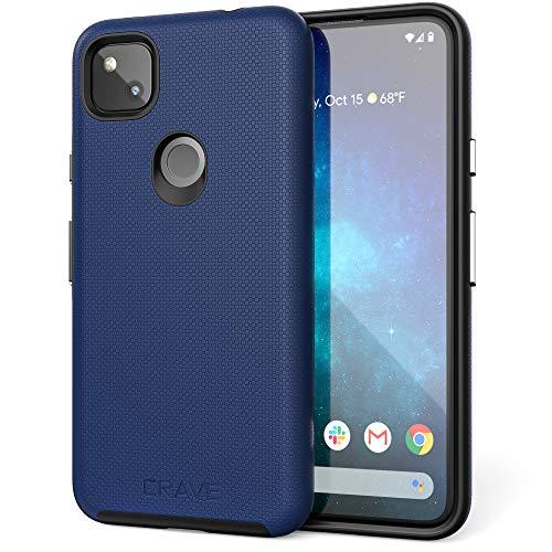 Crave Pixel 4a Hülle, Dual Guard Protection Series Schutzhülle für Google Pixel 4a, Marineblau
