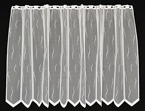 Colour: Blanc Vous Pouvez Choisir la Largeur des Rideaux par paliers de 12,5 cm Rideaux Cuisine Rideaux Brise-bise Neutre 90 cm de Haut