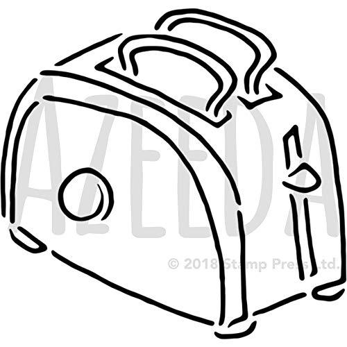 Azeeda A4 'Toast in einem Toaster' Wandschablone / Vorlage (WS00003339)