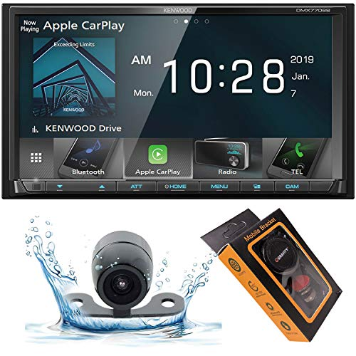 Kenwood DMX 6.95' WVGA Digital Media Receiver, Apple CarPlay & Android Auto with HD Backup Camera and Gravity Magnet Phone Holder