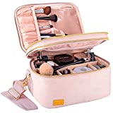 BQTQ Neceser Maquillaje Grande Bolsa de Maquillaje de Viaje Portátil Bolsa de Cosméticos para Mujer, Rosado