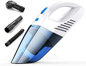 Portable Car Vacuum Cleaner Car Home Wet and Dry 120W High Power Rechargeable Strong Multi-Function High Power Car Vacuum Cleaner (Color : Blue)