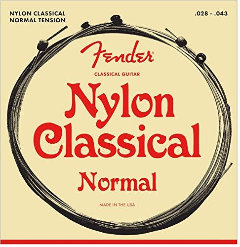 Fender 073-0130-400 .028 - .043 130 Cuerdas de guitarra folk de nylon con punta de bola mediana