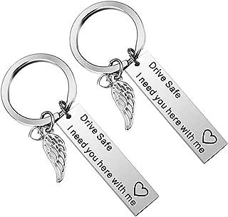 Porte-cl/é Lettres A-Z Initiales Personnalisable de lalphabet Accessoires Homme Femme Cadeau Lettre J Or Rose KK 36