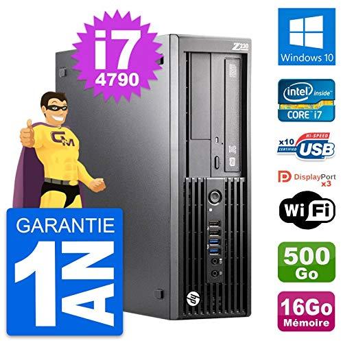 HP Z230 SFF Intel Core i7-4790 RAM 16 GB disco duro 500 GB Windows 10 WiFi (reacondicionado)