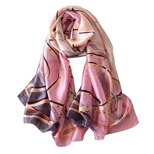 YMXHHB Silk Scarf 100% Mulberry Silk Fashion Scarves Long Lightweight Shawl Wrap (6713)