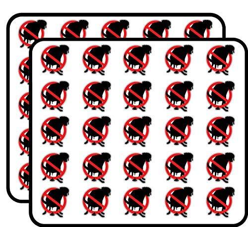 Pooping hond verbod verbod stop teken Vinyl Stickers grappig schattig voor kinderen DIY ambachten, Scrapbooking, Laptop, Bumper auto Stickers, Stickers voor kinderen, 50 Pack