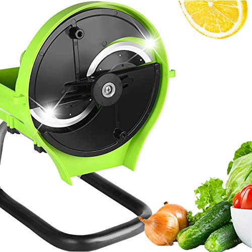 Slicer for Commercial and Kitchen - Multifunction Manual and Automatic Changeable Food Slicer for Cheese Fruit Vegetable onion lemon meat beef jerky (Manual)