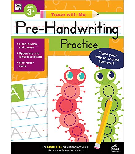 Carson Dellosa | Trace with Me: Pre-Handwriting Activity Book | Preschool2nd Grade, 128pgs
