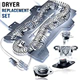 Rightex Dryer Heating Element DC47-00019A for Samsung Dryer - Thermal Fuse DC96-00887A and DC47-00016A - Dryer...