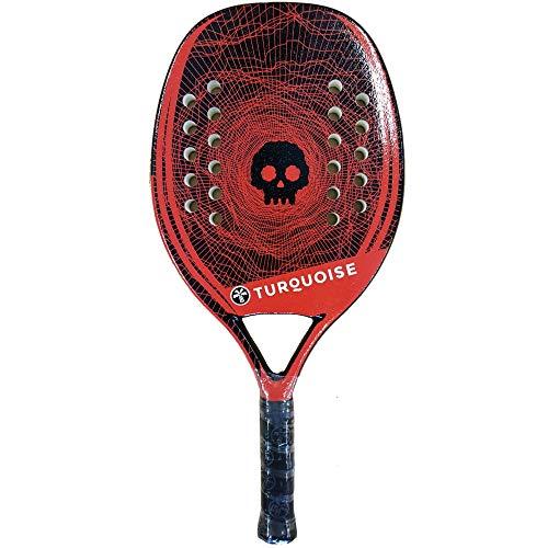 Turquoise Racchetta Beach Tennis Racket Black Death Team 2020 (Red)