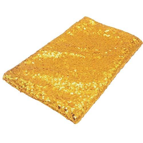 EDCV Home tafelkleed Rose Gold Sequin tafelkleed Glitter rond rechthoekig geborduurd tafelkleed voor bruiloftsdecoratie, goud