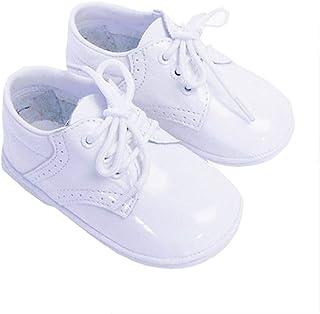 Baby Toddler Boy Patent White Classic Saddle Style Dress Shoe Size 1-7