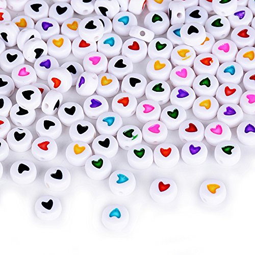 ca. 400 stück Mini Perlen Set (Acryl oder Holz) Bastelperlen für Armbänder Acrylperlen zum basteln Holzperlen zum auffädeln Holzkugeln mit Loch Bunt Kugeln (Acryl (ca. 400 STK), ca. 3 x 7 mm)