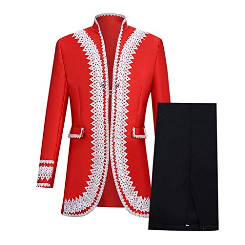 Tops + Hosen Herren Uniform Party Anzug Männer Europa Stil Court Kleid Kostüm Militärische Kleidung Leistung Prinz Kostüm Kölner Karneval Weihnachten Herrenanzug CICIYONER