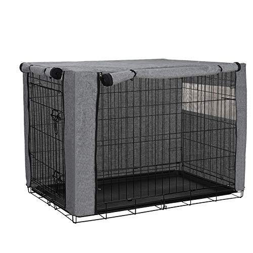 QEES Cobertores para jaulas de Perro, Resistentes al Viento, para jaulas de Alambre, Tela esmerilada, protección Interior y Exterior, fácil de Poner, Quitar JJZ1019