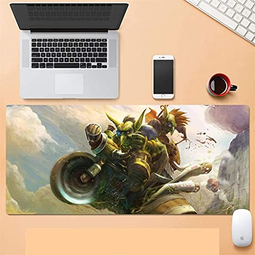 Grande Alfombrilla de Ratón Gaming Mouse Pad Wow Warcraft extendido alfombrilla de ratón estera grande del teclado 900 × 400mm para el escritorio de la PC de la computadora de la oficina de la oficina