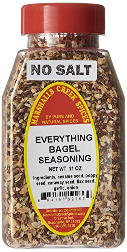 Marshall's Creek Spices Everything Bagel Seasoning with No Salt, 11 Ounce