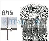 ITALFROM - Valla Malla metálica galvanizada para Animales, Rollo de 50 Metros, Malla de 8x 15 cm,diámetro del Hilo: 1,9-2,5 mm, Altura: 100cm, código 2227