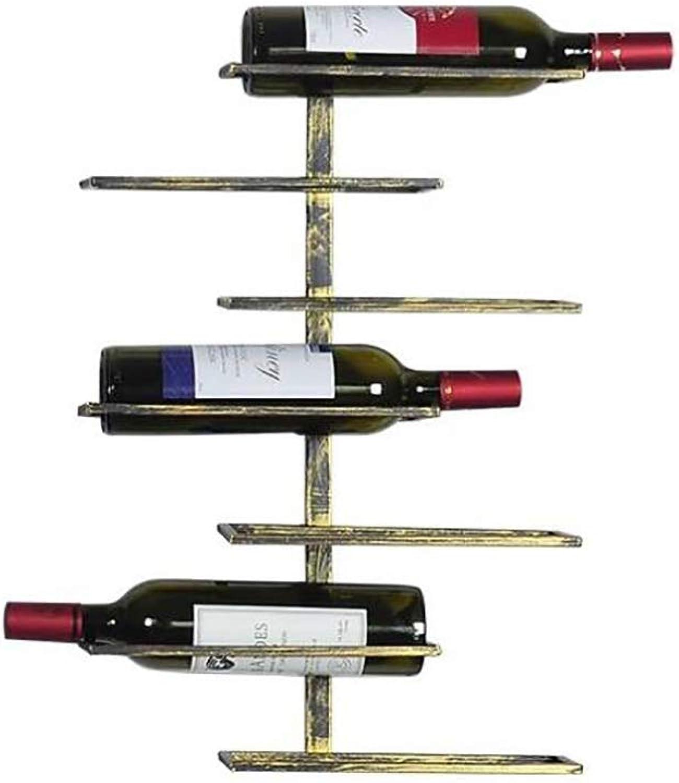 Red Wine Shelf Bar Interior Minimalist Wall-Mounted Wine Rack Wrought Iron Wine Rack Wall Hanging Wall Wine Cabinet Wine Rack,Ninelayerwinerack (Size   Sevenlayerwinerack)