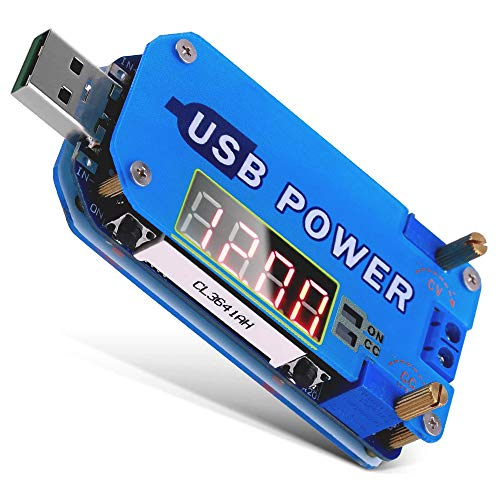 PEMENOL 15W DC-DC Boost-Buck Einstellbares USB-Spannungsversorgungsmodul, LCD Step Up/Down Modul für Abwärts Gerichtete CVCC-Spannungserhöhungs-Spannungswandler mit Gehäuse