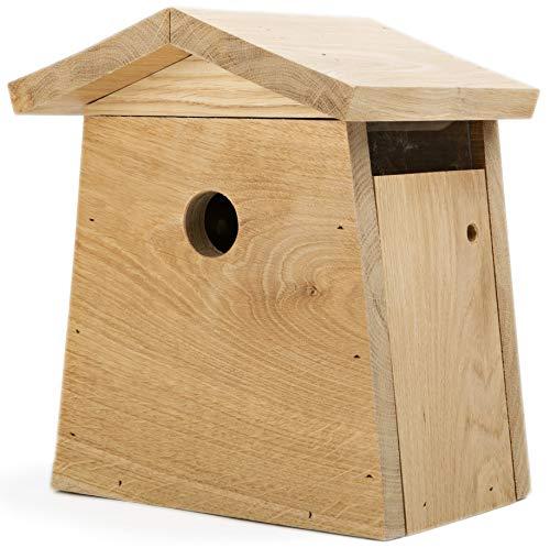 NEST TO NEST Klassisch Nistkasten I Vogelhaus Eichen Holz I Nistkästen für Spatzen, Titten, Fliegenfänger I Brutkasten für vögel I Eingangsloch 3,5 cm I Premium Qualität