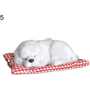 PATPAT® Plush Dolls, Stuffed Toys Cute Simulation Sleeping Puppy Dog Doll Toy with Sound Kid Toy Decoration Gift(14*17cm)