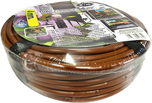 S&M 543852 Flexibele microslang 4 mm met geïntegreerde druppelbescherming om de 15 cm, bruin, 19,5 x 19,5 x 6 cm