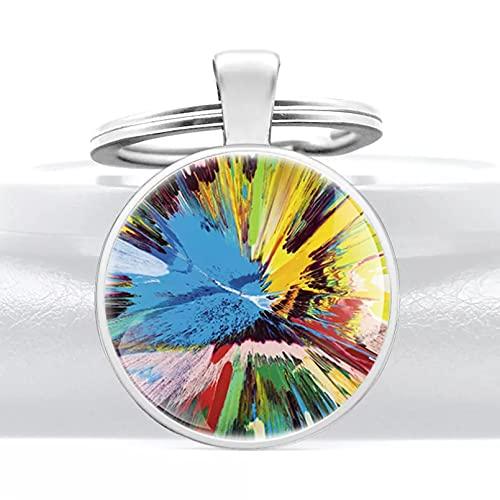 TOBENOI Encanto Moda Colorido Tinta Llavero cúpula de Cristal Llavero Coche Metal...